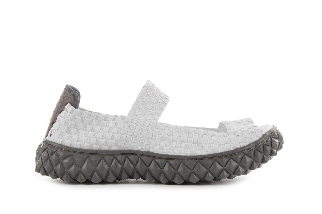 Sandały rock sandal 2 closed white, białe, materiał 8