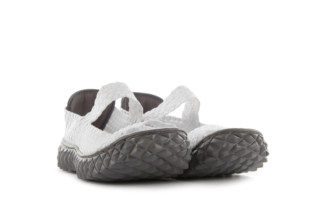 Sandały rock sandal 2 closed white, białe, materiał 9