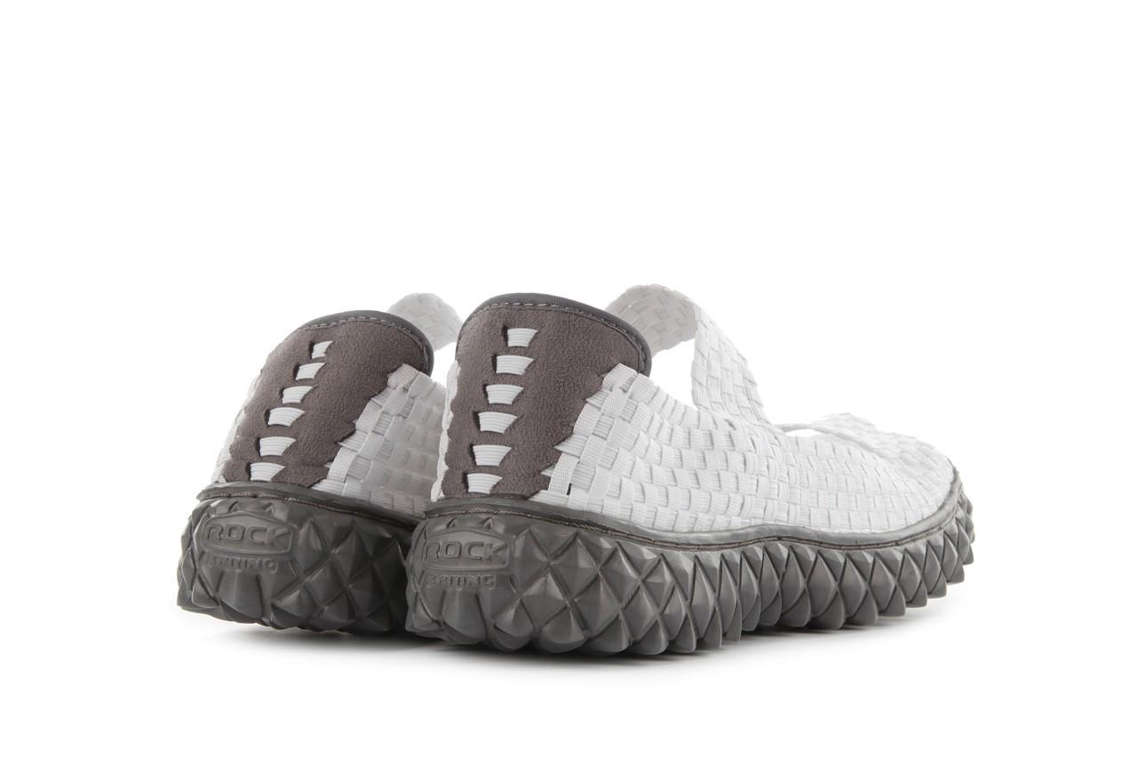 Sandały rock sandal 2 closed white, białe, materiał 11