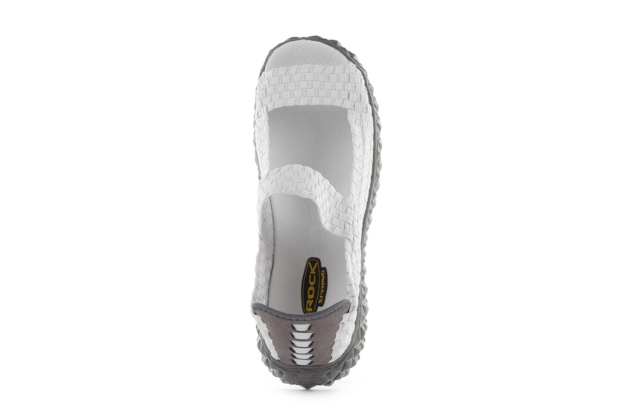 Sandały rock sandal 2 closed white, białe, materiał 12