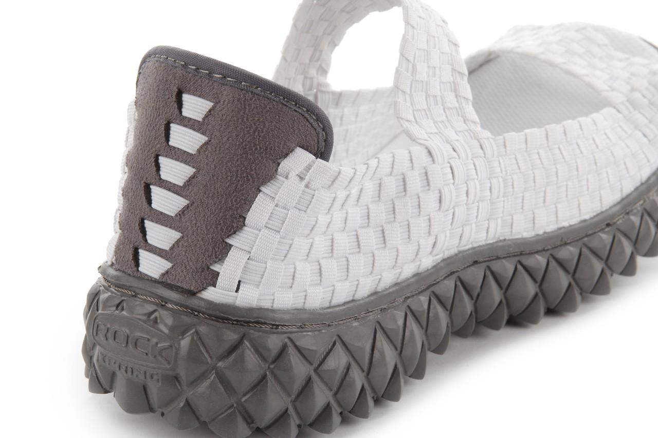 Sandały rock sandal 2 closed white, białe, materiał 15