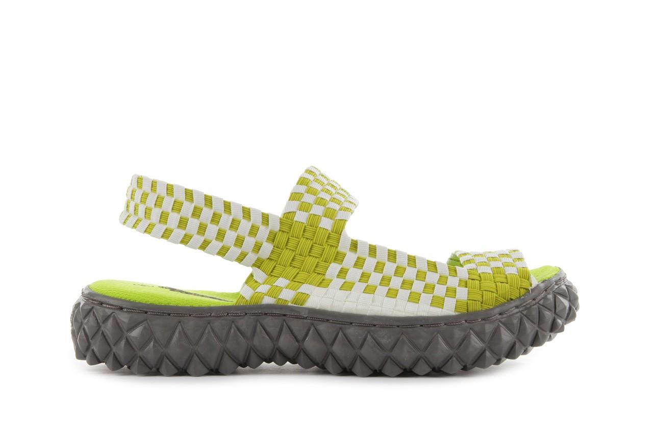Sadały rock sandal 2 green-white, zielony/ biały, materiał - rock - nasze marki 7