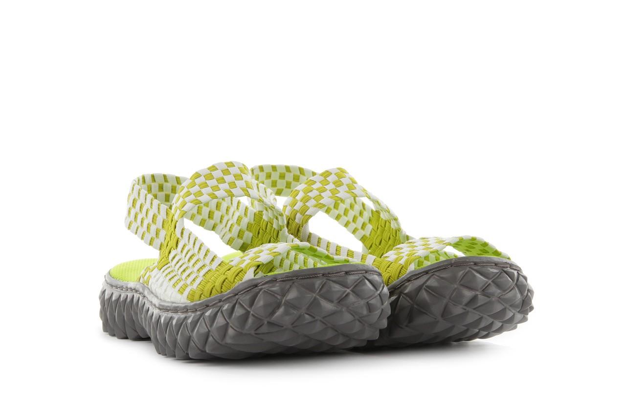 Sadały rock sandal 2 green-white, zielony/ biały, materiał - rock - nasze marki 8