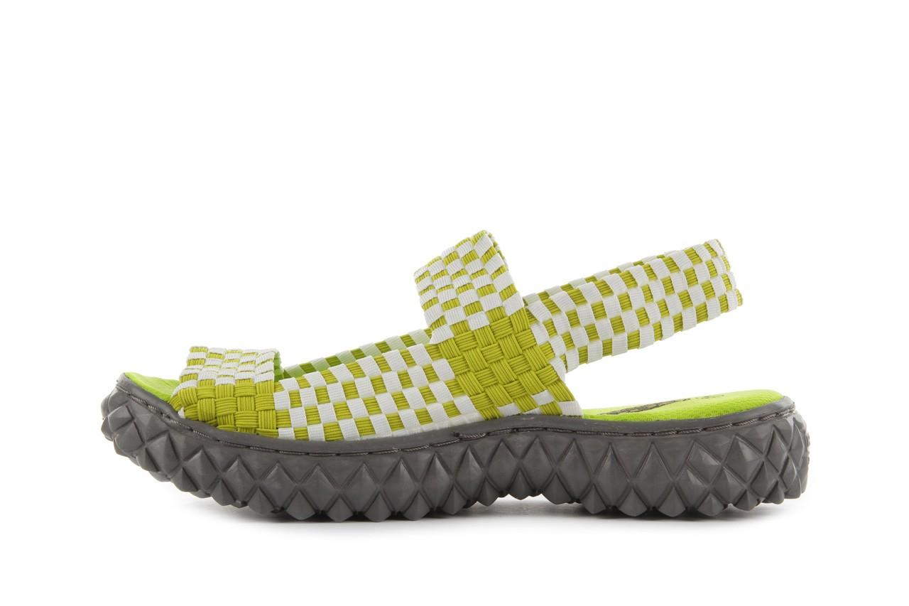 Sadały rock sandal 2 green-white, zielony/ biały, materiał - rock - nasze marki 9