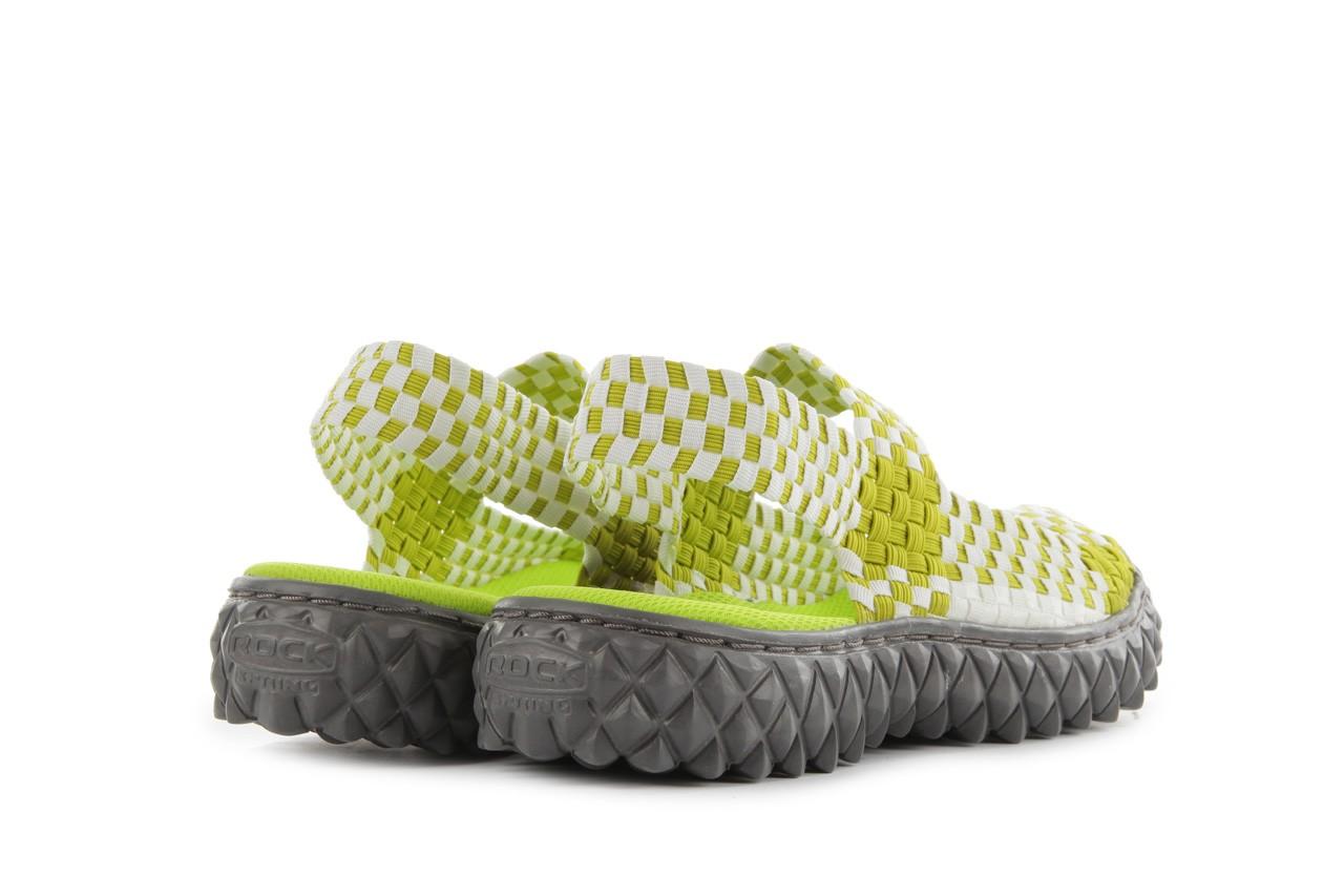 Sadały rock sandal 2 green-white, zielony/ biały, materiał - rock - nasze marki 10