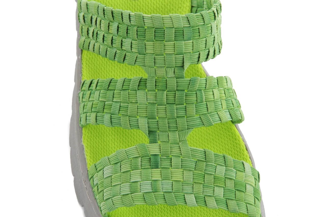 Sandały rock santa barbara green washed, zielony, materiał - rock - nasze marki 11