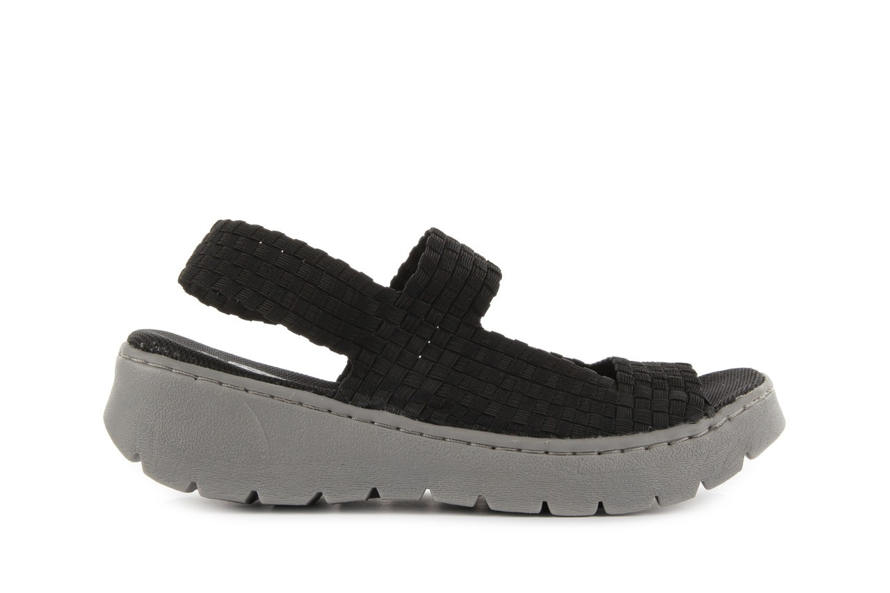 Sandały rock santa clara black, czarny, materiał - rock - nasze marki 6