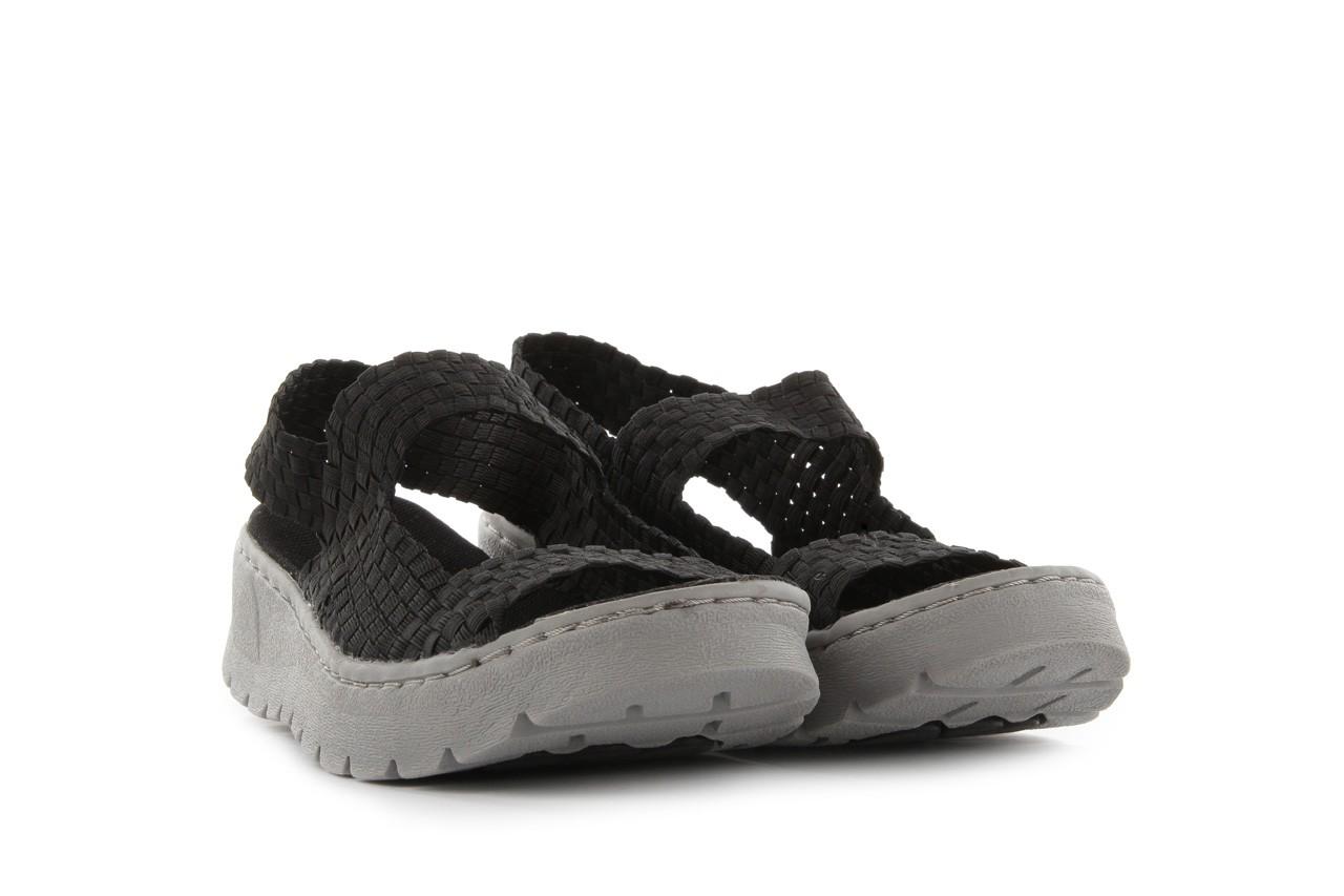 Sandały rock santa clara black, czarny, materiał - rock - nasze marki 7