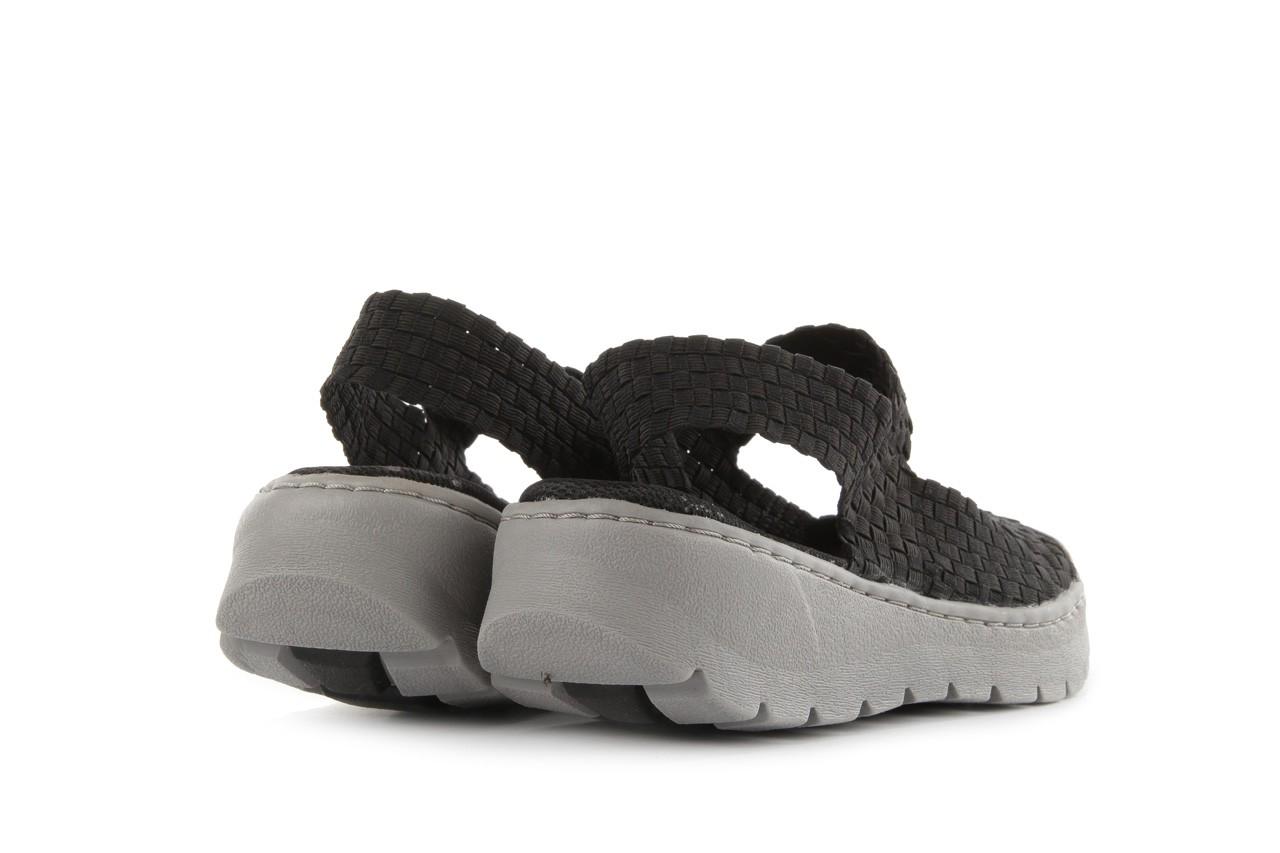 Sandały rock santa clara black, czarny, materiał - rock - nasze marki 9
