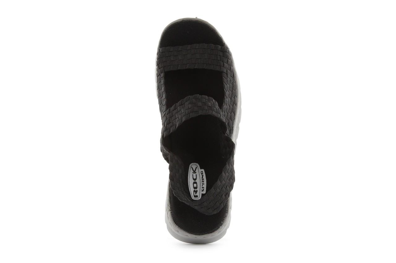 Sandały rock santa clara black, czarny, materiał - rock - nasze marki 10