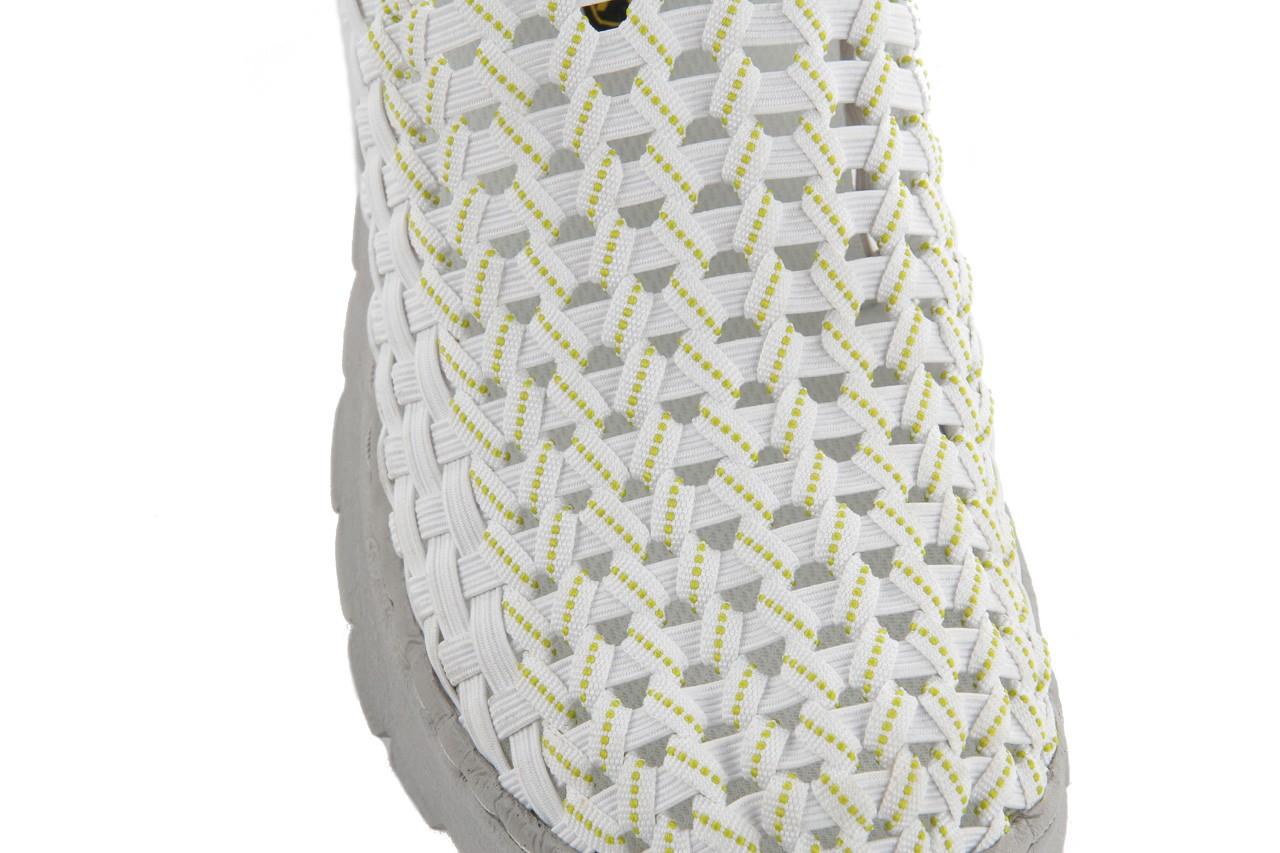 Półbuty rock santa maria white-white-green, biały/ szary, materiał - rock - nasze marki 12