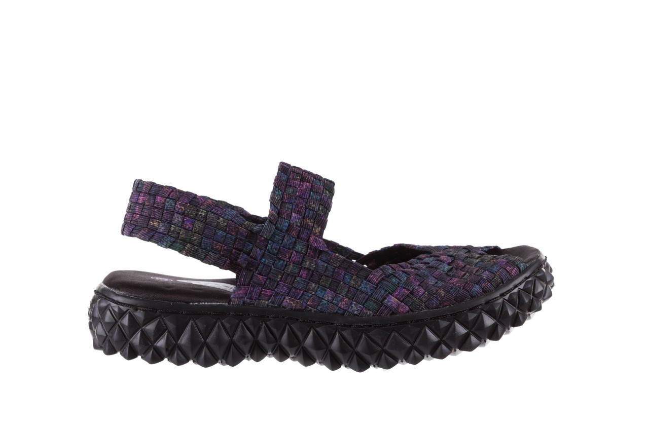 Sandały rock sofia galaxy 20, fioletowy, materiał - płaskie - sandały - buty damskie - kobieta 6