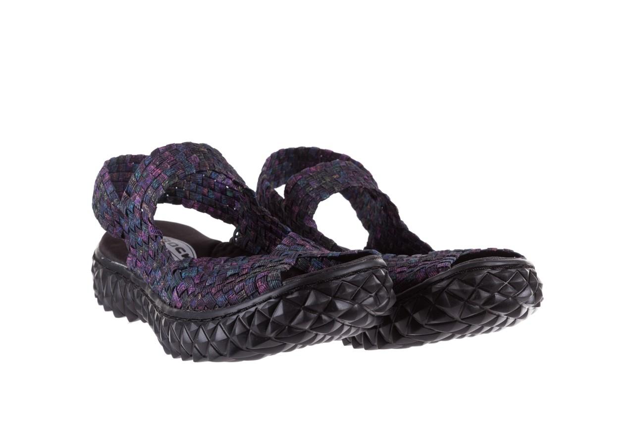 Sandały rock sofia galaxy 20, fioletowy, materiał - płaskie - sandały - buty damskie - kobieta 7