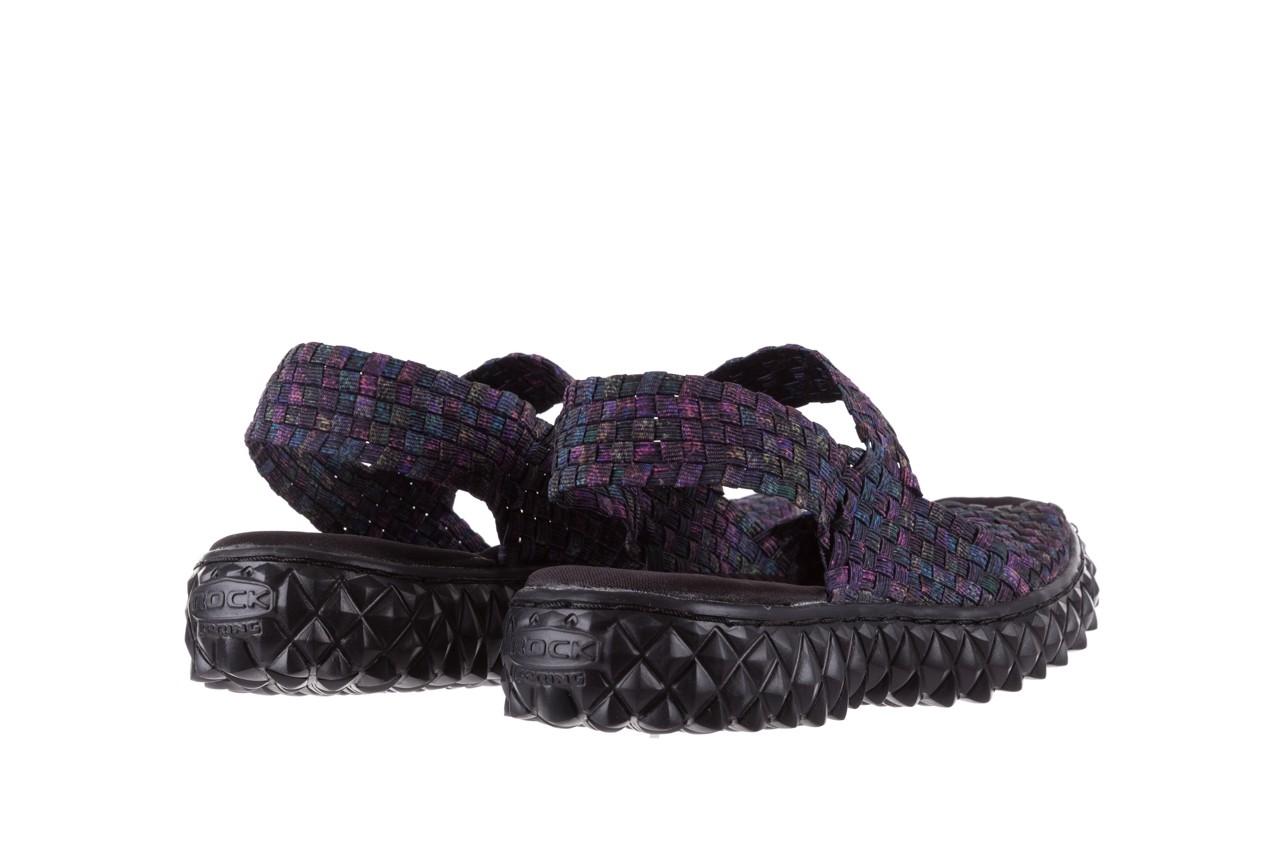 Sandały rock sofia galaxy 20, fioletowy, materiał - płaskie - sandały - buty damskie - kobieta 9
