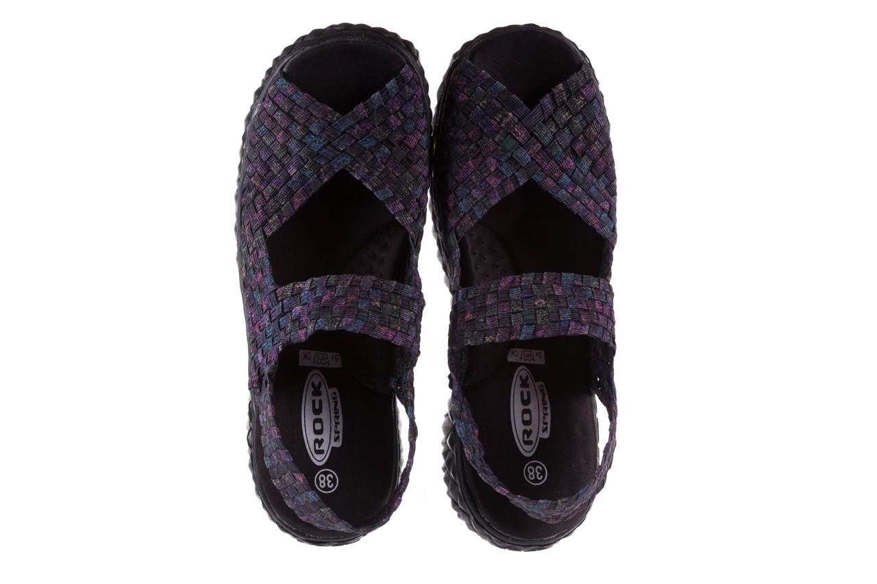 Sandały rock sofia galaxy 20, fioletowy, materiał - płaskie - sandały - buty damskie - kobieta 10