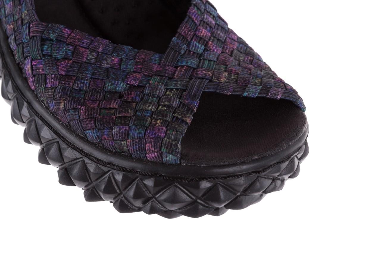 Sandały rock sofia galaxy 20, fioletowy, materiał - płaskie - sandały - buty damskie - kobieta 11