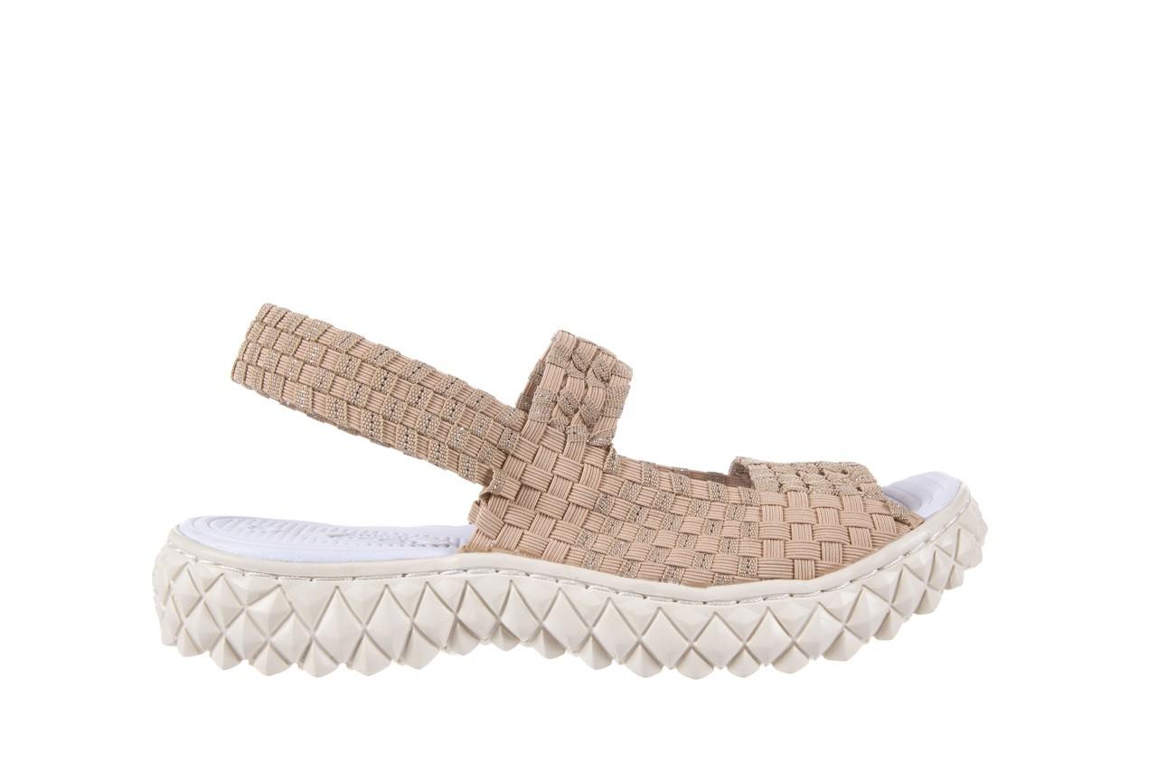 Sandały rock tropicana beige silver, beż, materiał - rock - nasze marki 6