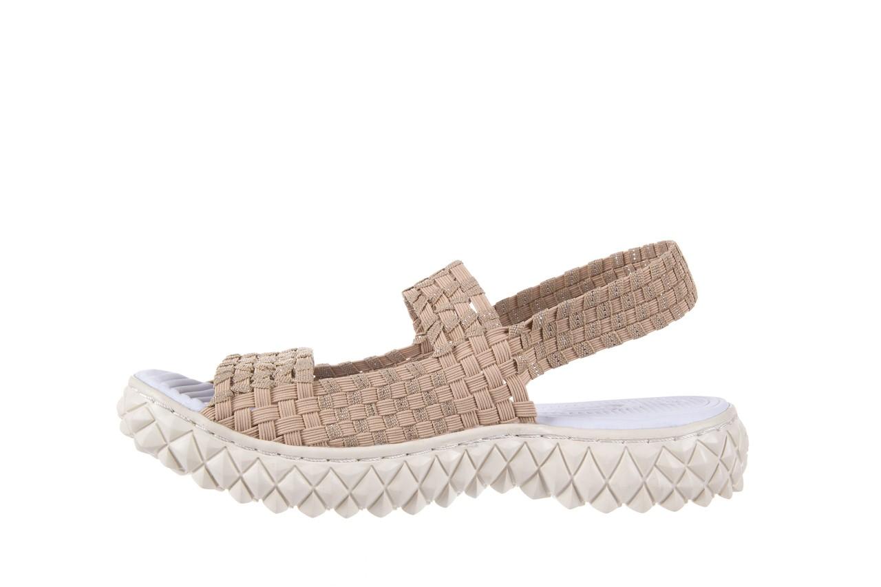 Sandały rock tropicana beige silver, beż, materiał - rock - nasze marki 8