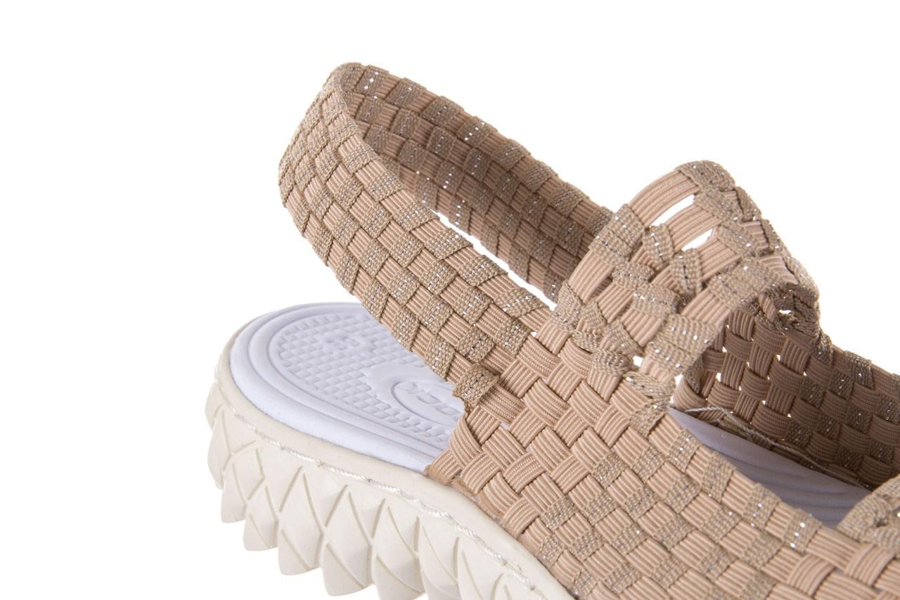 Sandały rock tropicana beige silver, beż, materiał - rock - nasze marki 11
