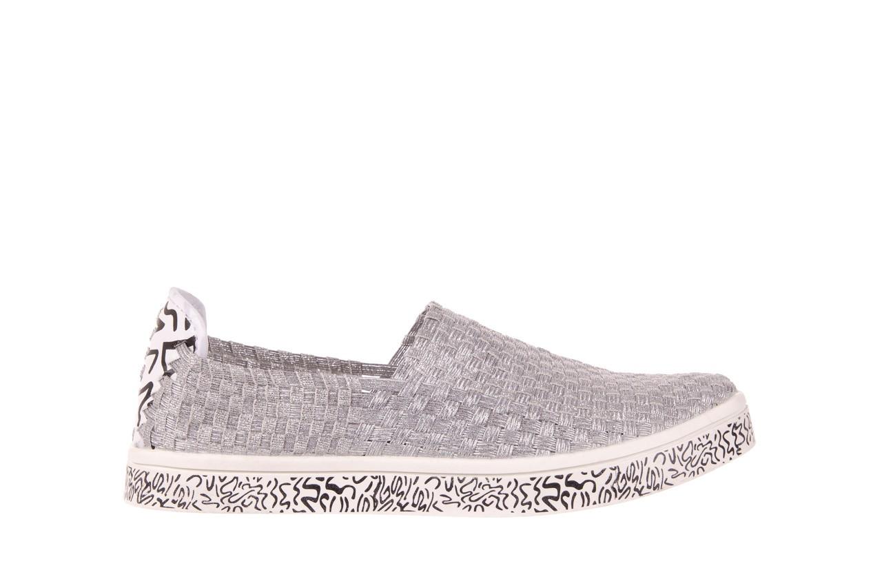 Trampki rock warhol silver, srebro, materiał - slip on / wsuwane - trampki - buty damskie - kobieta 6