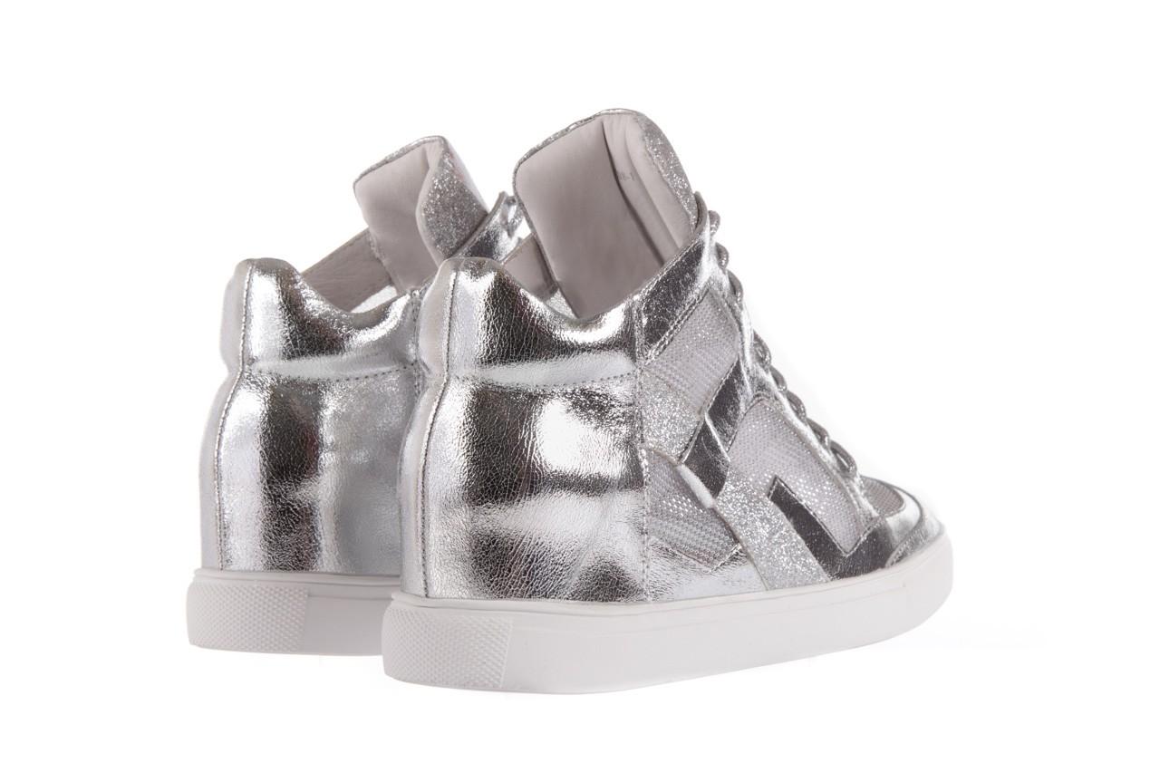 Sneakersy sca'viola 1208-1 silver, srebro, skóra naturalna  - sca`viola - nasze marki 9