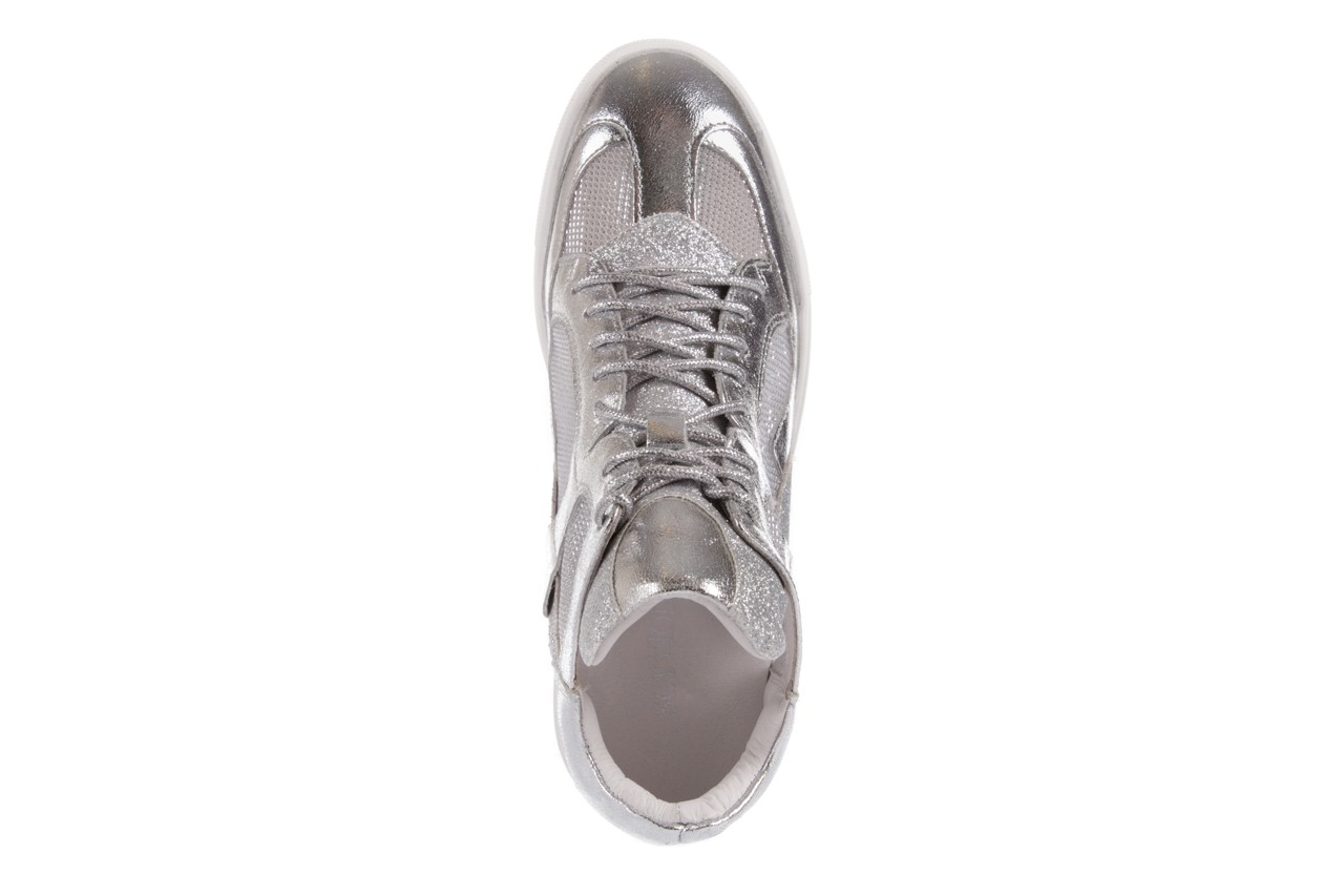Sneakersy sca'viola 1208-1 silver, srebro, skóra naturalna  - sca`viola - nasze marki 10