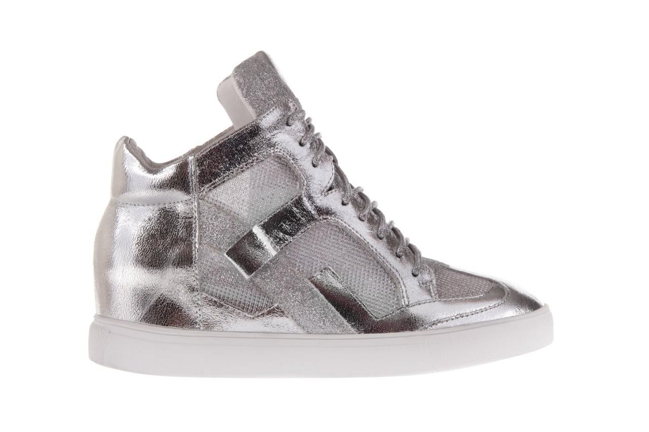Sneakersy sca'viola 1208-1 silver, srebro, skóra naturalna  - sca`viola - nasze marki 6