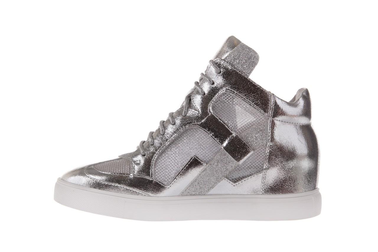 Sneakersy sca'viola 1208-1 silver, srebro, skóra naturalna  - sca`viola - nasze marki 8