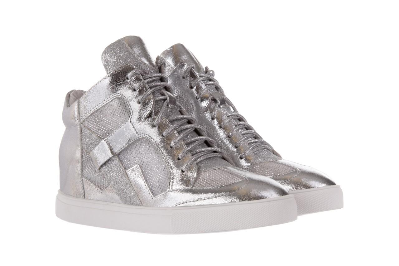 Sneakersy sca'viola 1208-1 silver, srebro, skóra naturalna  - sca`viola - nasze marki 7