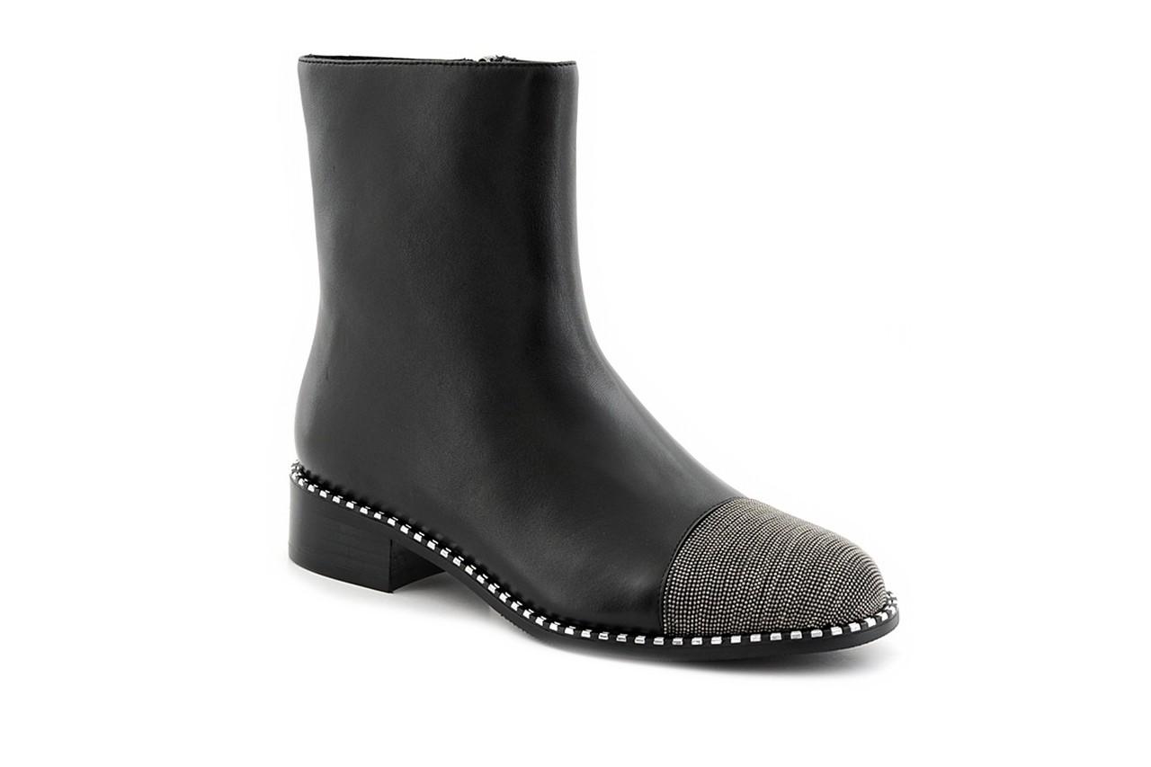 Botki sca'viola f-93 black, czarny, skóra naturalna  - sztyblety - botki - buty damskie - kobieta 11