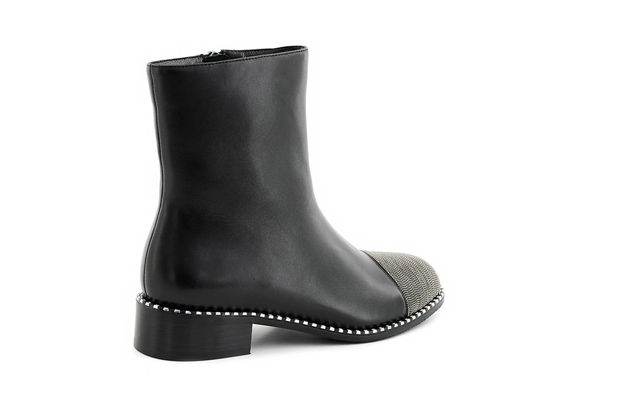 Botki sca'viola f-93 black, czarny, skóra naturalna  - sztyblety - botki - buty damskie - kobieta 13