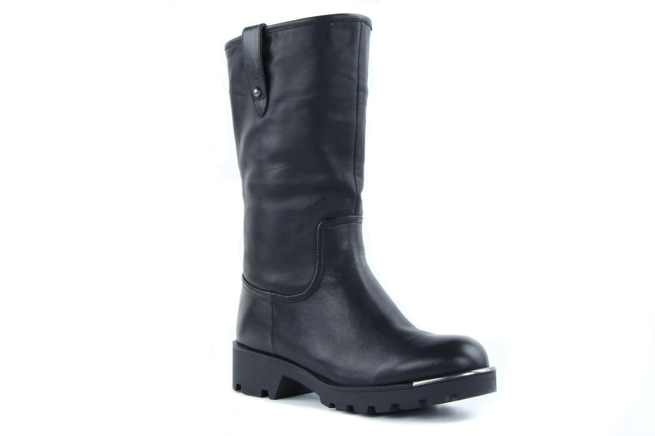 Kozaki sca'viola 6ia70 black, czarny, skóra naturalna  - płaskie - kozaki - buty damskie - kobieta 10