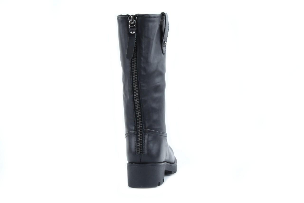 Kozaki sca'viola 6ia70 black, czarny, skóra naturalna  - płaskie - kozaki - buty damskie - kobieta 6