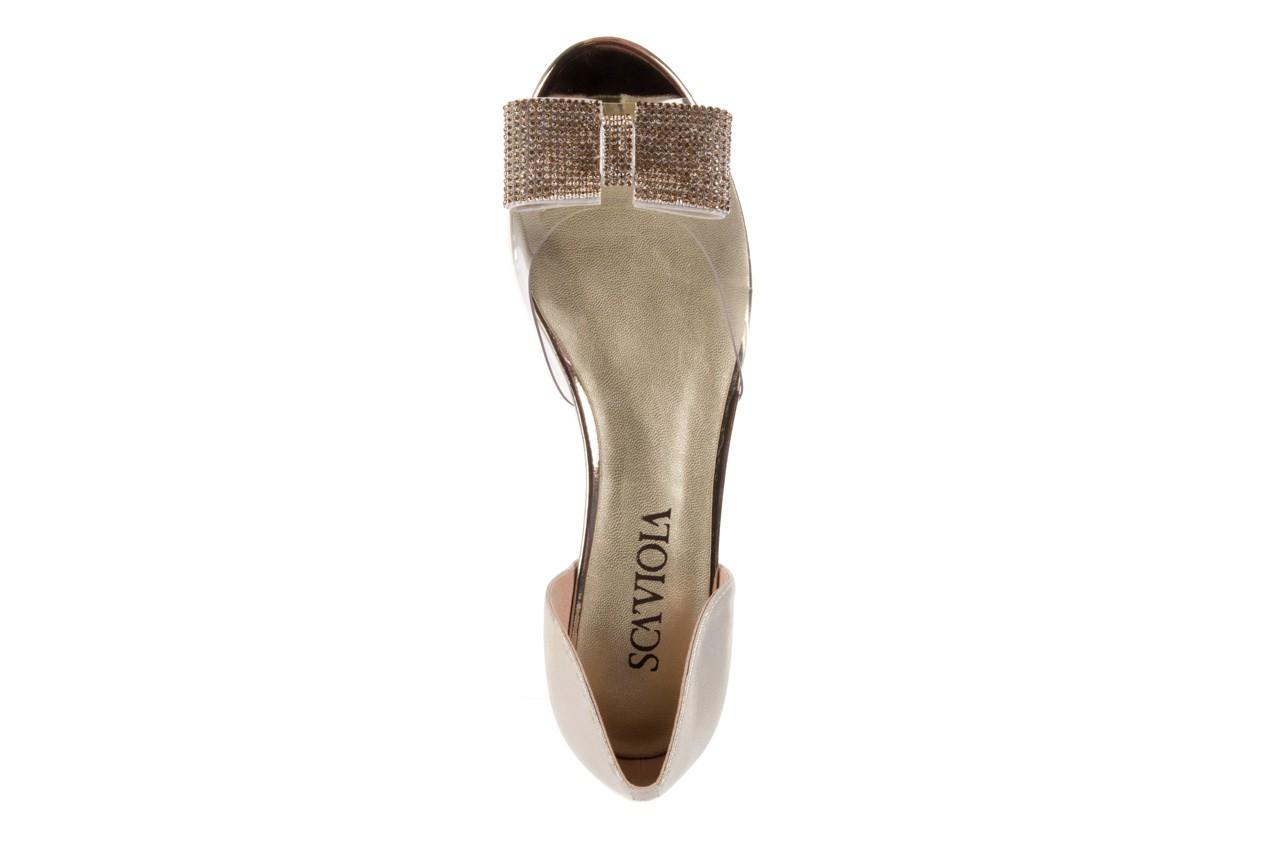 Sandały sca'viola a112-8 gold, złoty, silikon  - sca`viola - nasze marki 10