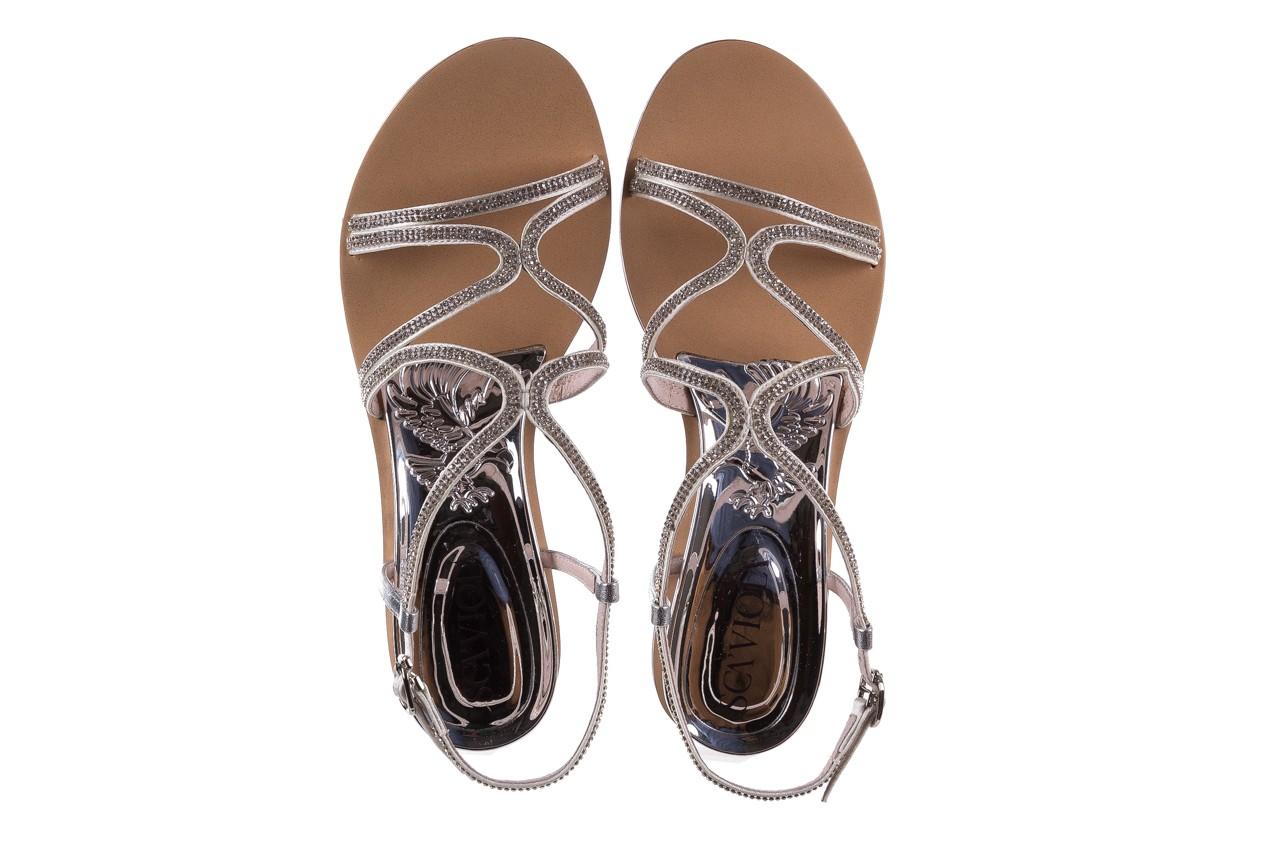 Sandały sca'viola b-43 silver, srebrne, skóra naturalna  - sca`viola - nasze marki 15