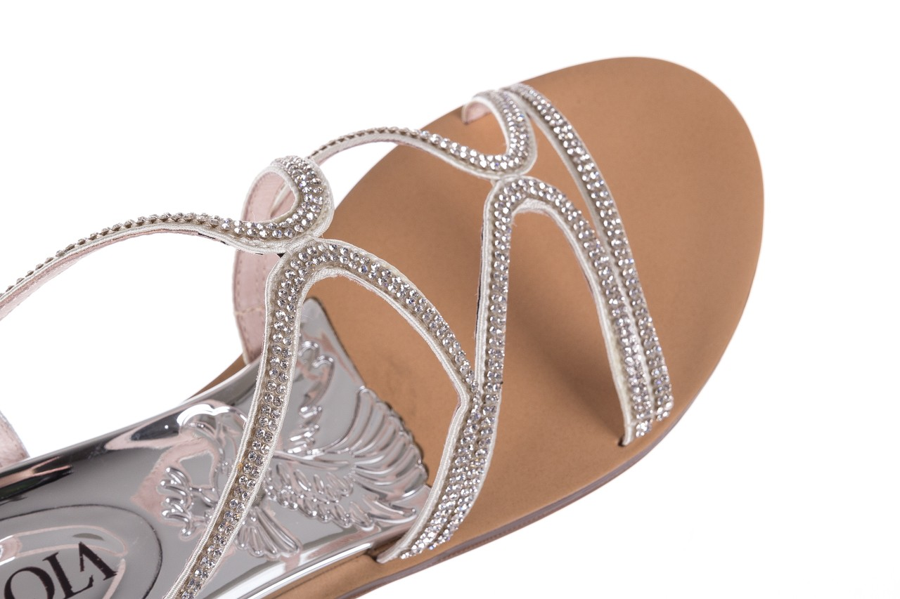 Sandały sca'viola b-43 silver, srebrne, skóra naturalna  - sca`viola - nasze marki 17