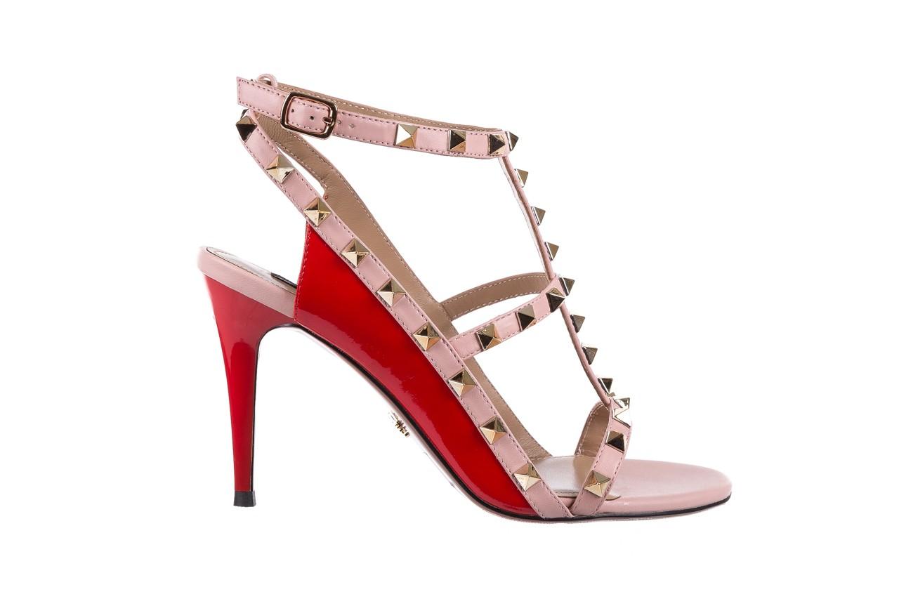 Sandały sca'viola f-55 red, róż/czerwony, skóra naturalna  - sca`viola - nasze marki 8
