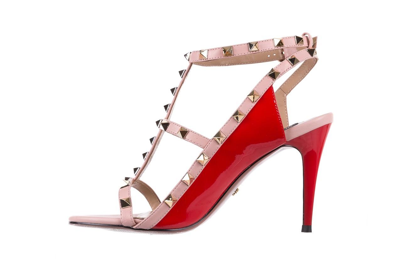 Sandały sca'viola f-55 red, róż/czerwony, skóra naturalna  - sca`viola - nasze marki 11