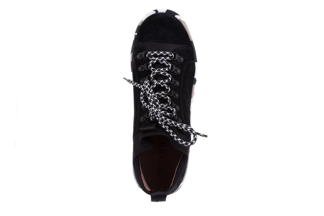 Trampki sca'viola lwu15 black, czarny, skóra naturalna  - obuwie sportowe - dla niej - dodatkowe -10% 10