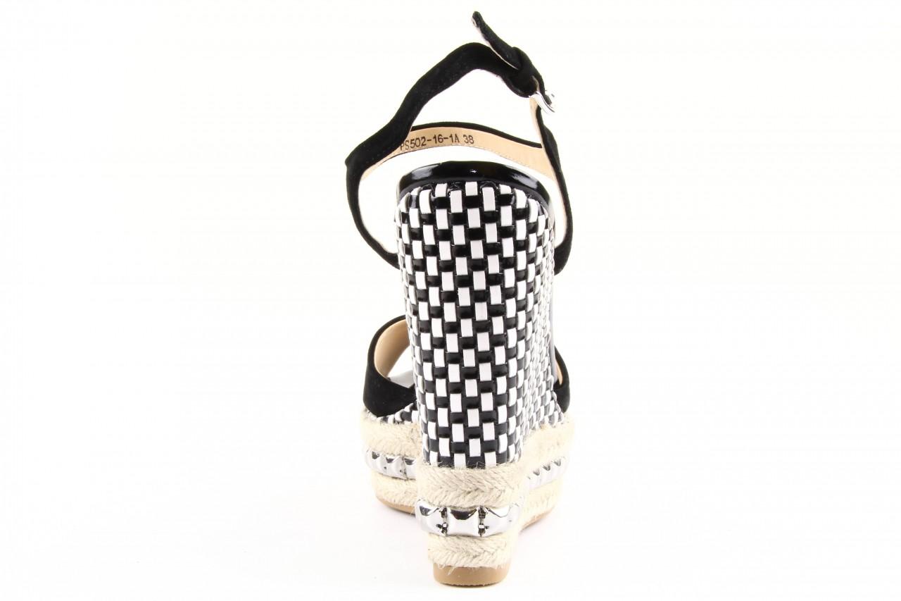 Sandały sca'viola ps502-16-1a black, czarny, skóra naturalna  - sca`viola - nasze marki 8