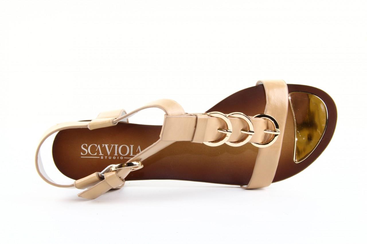 Sandały sca'viola ym13219-a13-2 brown, brąz, skóra naturalna  - sca`viola - nasze marki 12
