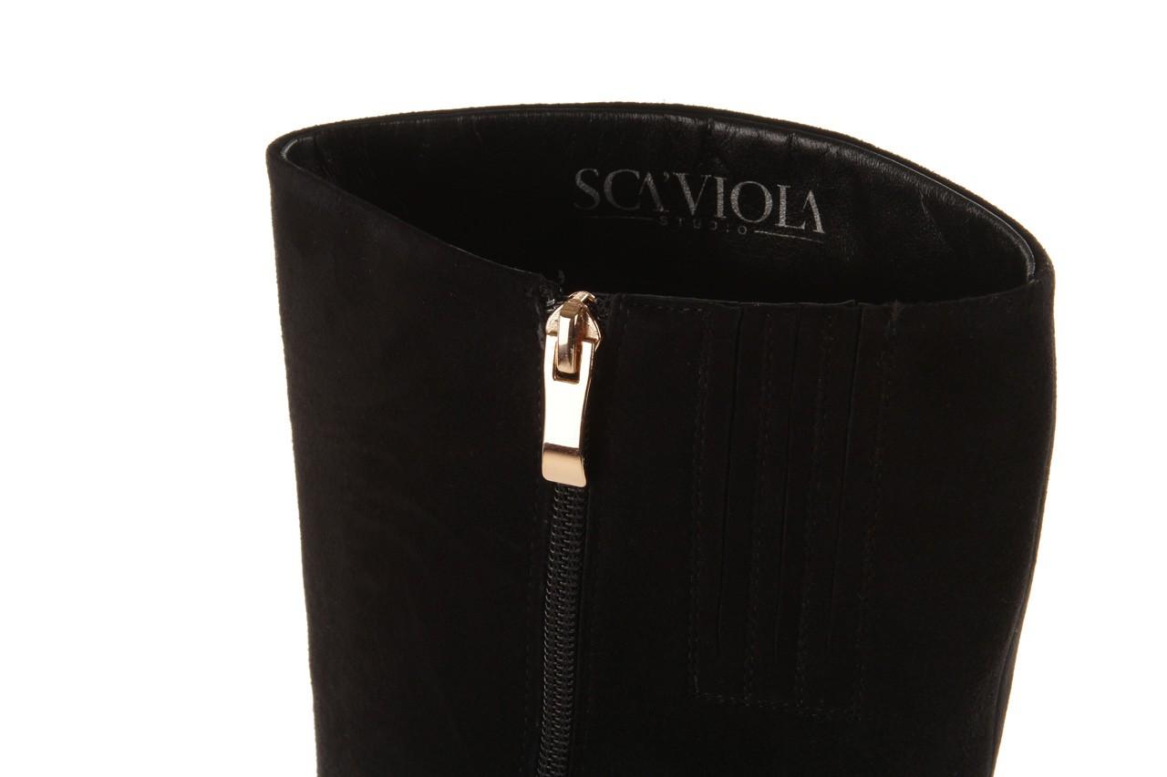Kozaki sca'viola w3300t-2152r black suede, czarny, skóra naturalna - sca`viola - nasze marki 13