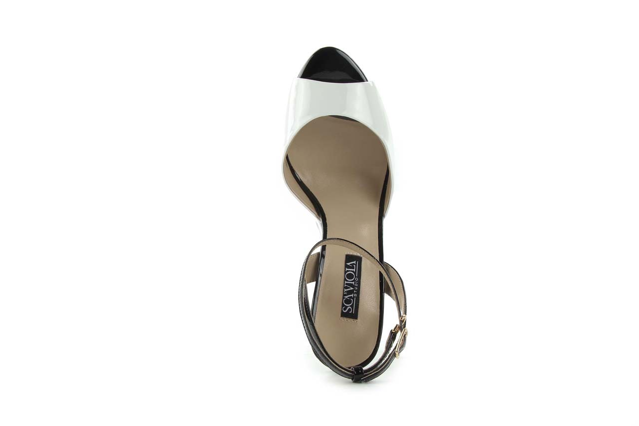 Sandały sca'viola w3223l-621 white black, biały, skóra naturalna - sca`viola - nasze marki 8
