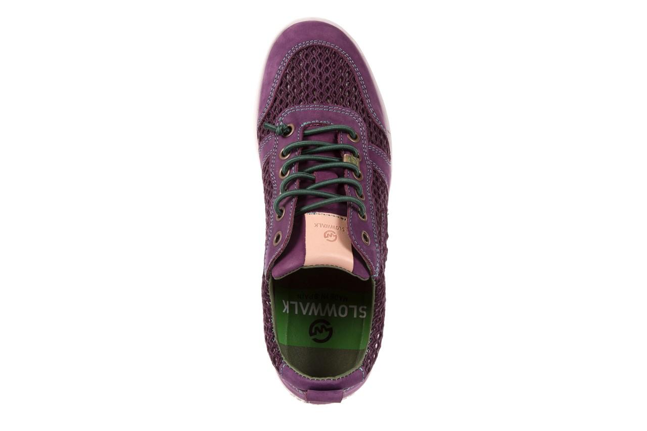 Trampki slowwalk 10162w crash purple, fiolet, skóra naturalna 10