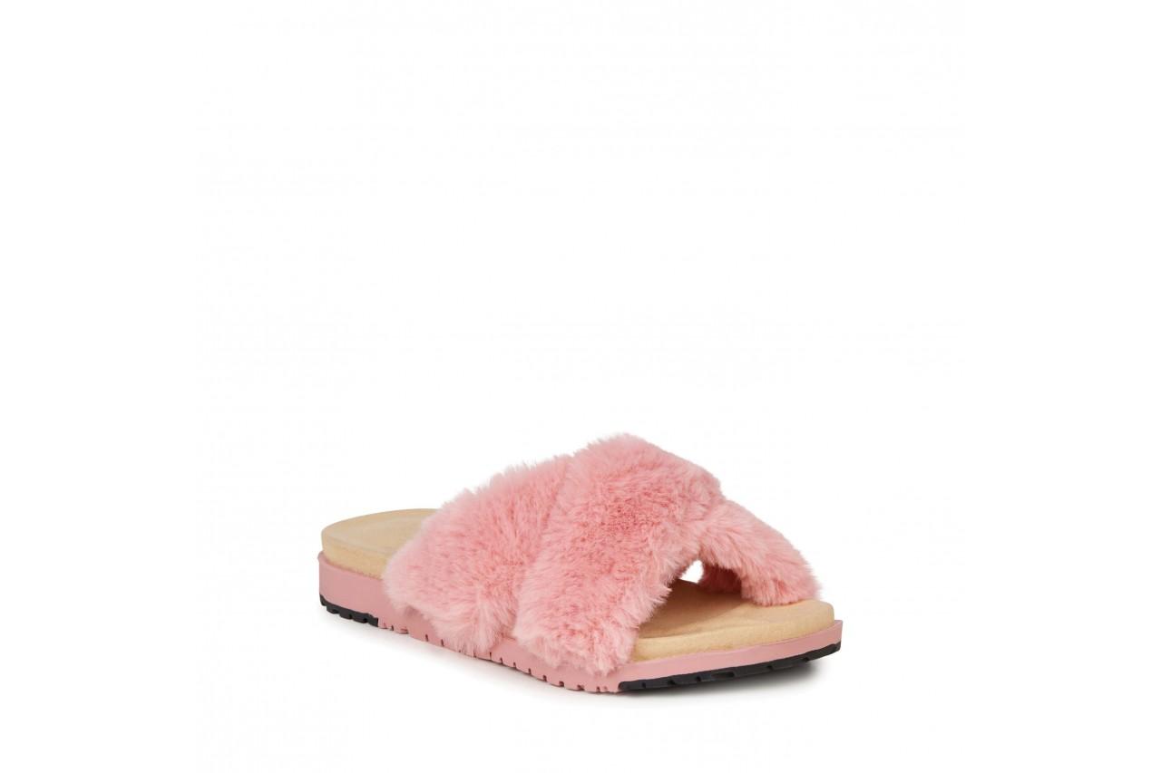 Klapki emu mareeba dusty pink, róż, futro naturalne - emu - nasze marki 7