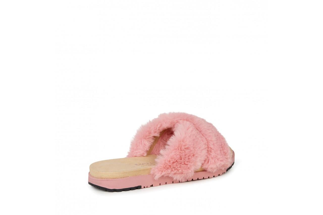 Klapki emu mareeba dusty pink, róż, futro naturalne - emu - nasze marki 9