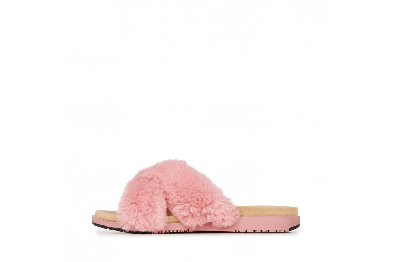 Klapki emu mareeba dusty pink, róż, futro naturalne - emu - nasze marki 8
