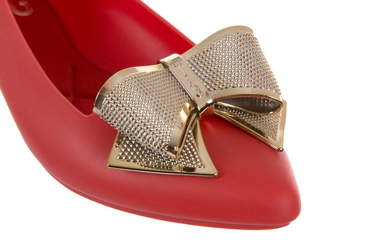 Baleriny t&g fashion 11-092 red, czerwony, guma - tg - nasze marki 11