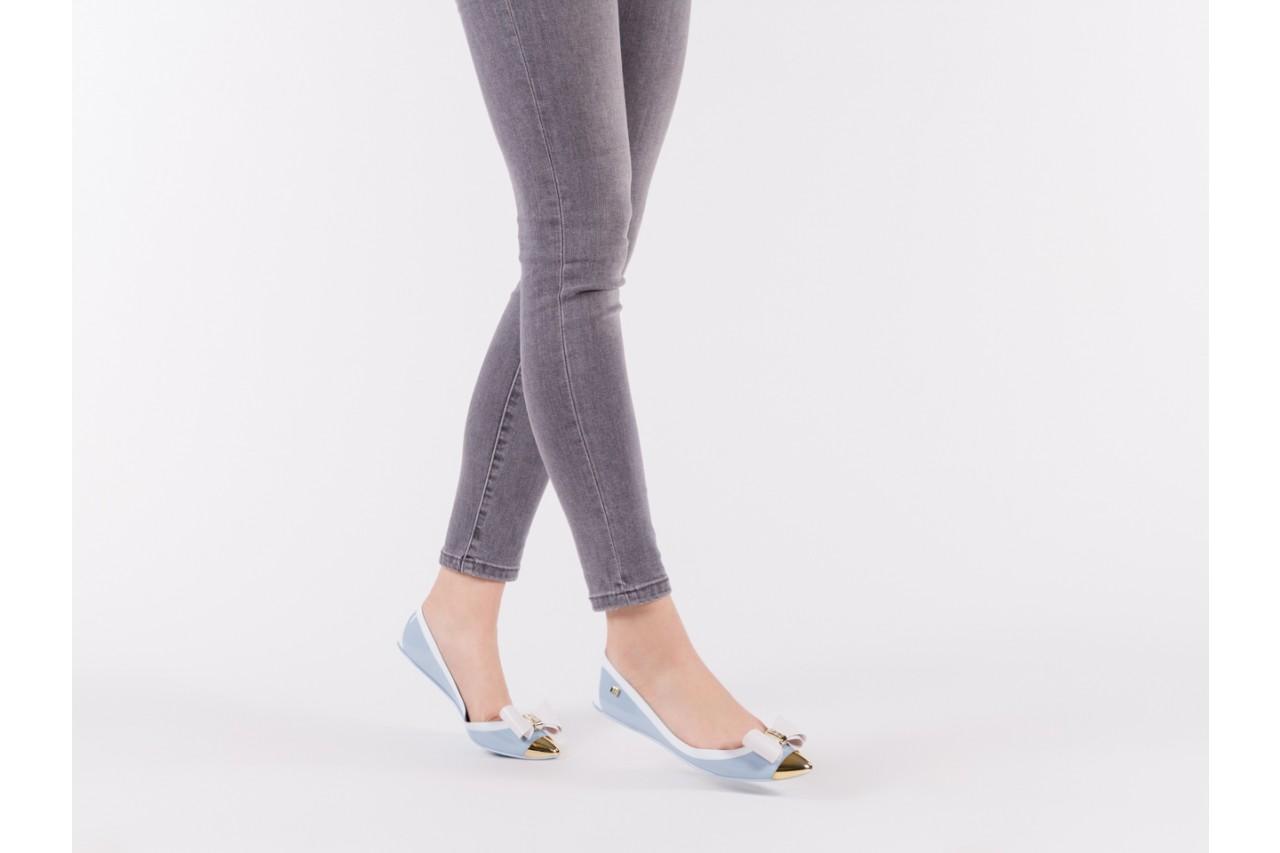 Baleriny t&g fashion 11-102 light blue, niebieski/ biały, guma - tg - nasze marki 13
