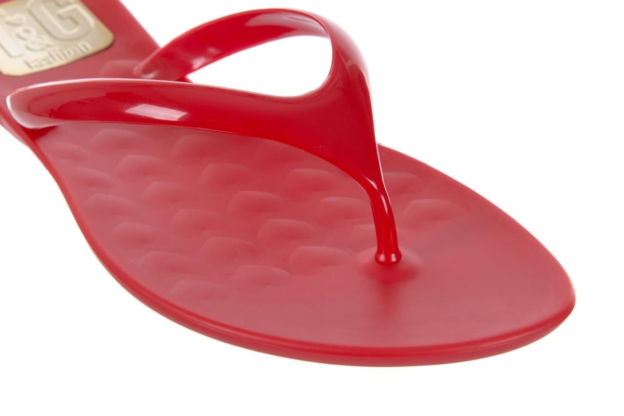 Klapki t&g fashion 22-114 red, czerwony, guma - tg - nasze marki 12
